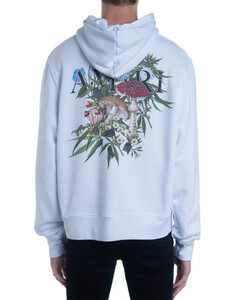 Psychedelic Print Jersey Hoodie