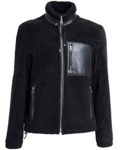 Shearling Jacket W/ Leather Pocket