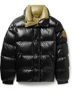 2 Moncler 1952 Dervo Logo-Appliquéd Quilted Glossed-Nylon Down Jacket