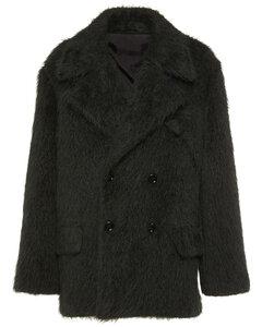Double Breast Brushed Alpaca Blend Coat