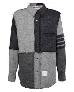 Panelled Button-Up Shirt