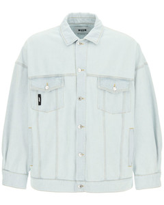 Jackets Msgm for Men Light Blue