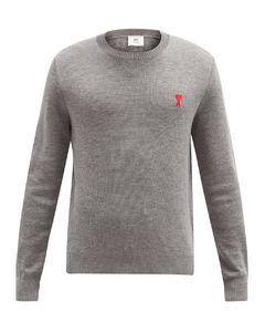 de Cœur-logo merino-wool sweater