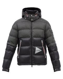 Edogawa logo-print quilted down hooded jacket