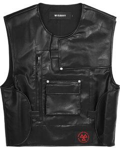 CWS Vegan Leather Vest - Black
