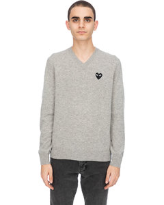 Black Heart Pullover - Grey