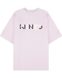 Multicolored Oversize Logo T-Shirt - Wisteria
