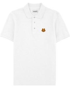 Tiger Crest Polo Shirt - White