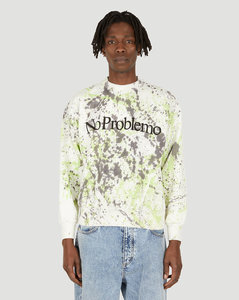Wool sweater with rhombuses