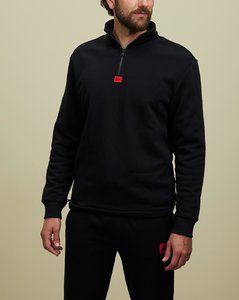 High-neck cotton-jersey and quilted down gilet