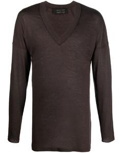 Embroidered crew-neck jumper