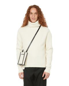 Cream appliquéd cotton T-shirt