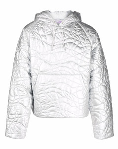 quilted padded hoodie