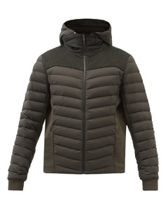 Warmer hooded down jacket