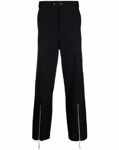 zip-detail tailored trousers