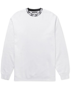 Logo-Jacquard Fleece-Back Jersey Sweatshirt