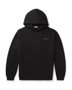 Oversized Printed Fleece-Back Cotton-Jersey Hoodie