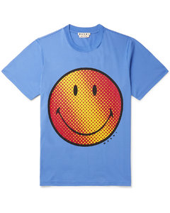 Smiley Printed Cotton-Jersey T-Shirt