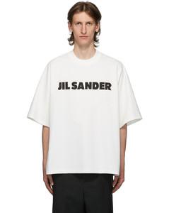 白色Boxy徽标T恤