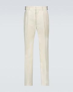 亚麻和棉质混纺裤装