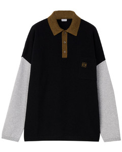 Polo collar sweater in wool