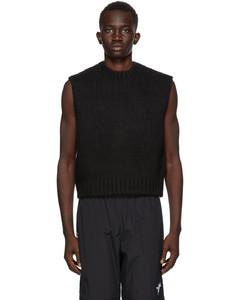 黑色Furry Knit马甲