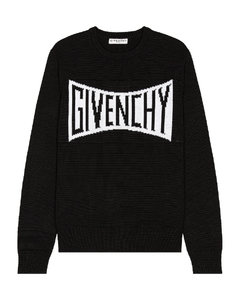 Crewneck Pullover with Logo in Black