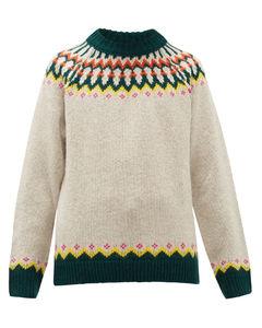 Gunner Fair-Isle wool-blend sweater