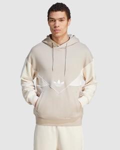 Brand-print high-neck shell hooded coat