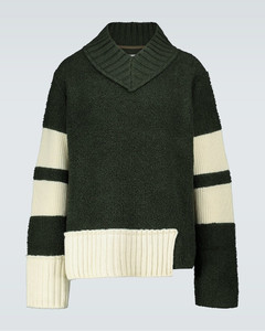 V-neck wool-blend sweater
