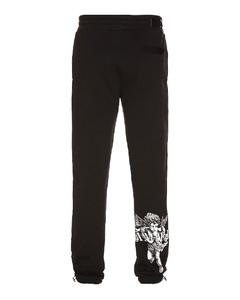 细条纹直筒裤