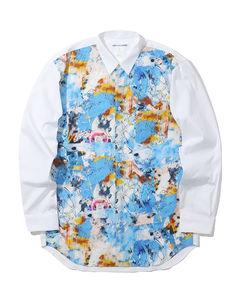 X FUTURA contrasting printed shirt