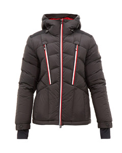 Arnensee tricolour-trim quilted down ski jacket