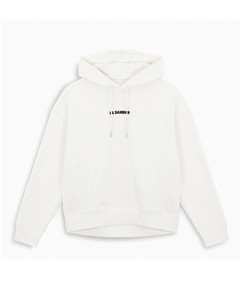 Hooded white sweatshirt