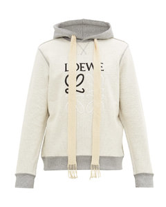 Inside-out Anagram-embroidered hooded sweatshirt