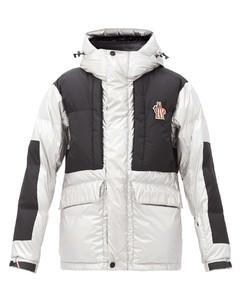 Breuil metallic hooded down ski jacket