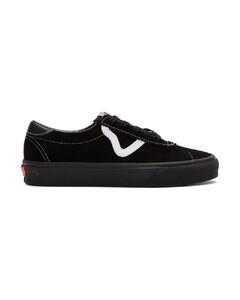 黑色Sport绒面革运动鞋