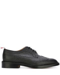 经典卵石纹长翼布洛克鞋
