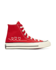 红色Valentine's Day Chuck 70高帮运动鞋