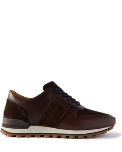Oleta Suede and Leather-Trimmed Mesh and Canvas Sneakers