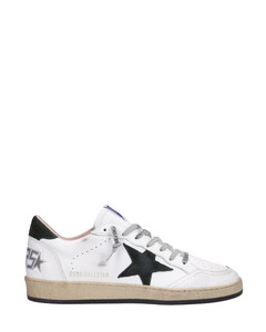 Ball Star Sneakers In White Leather