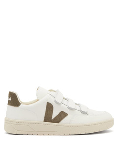 V-Lock velcro-strap leather trainers