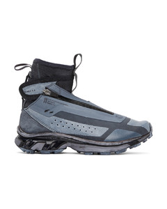 黑色&蓝色Salomon联名Bamba 3高帮运动鞋