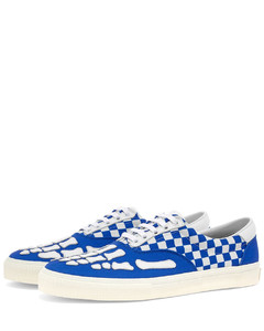 Checkered Skeleton Toe Lace Up Sneaker