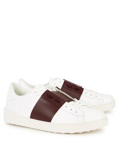 Garavani Open white leather sneakers