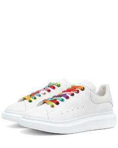 Multi Colour Eyelet Wedge Sole Sneaker