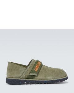 Low-Top Sneakers 1LH10 suede Logo print black-combo
