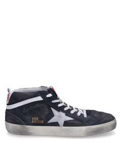 High-Top Sneakers MID STAR Hole pattern Used blue-combo