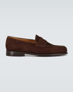 Lopez绒面革乐福便鞋