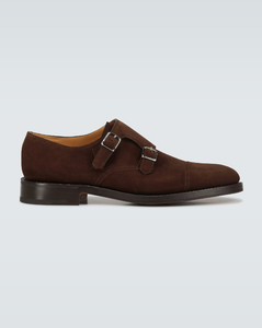 William双扣绒面革皮鞋